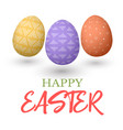 happy easter easter jumping red and yellow and vector image vector image