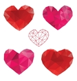 Heart Love Set of design elements vector image vector image