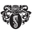heraldic silhouette No5 vector image