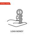 loan money icon thin line vector image vector image