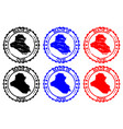 made in iraq rubber stamp vector image vector image