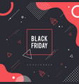 memphis black friday background vector image