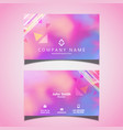 modern business card design with watercolour vector image vector image