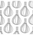 onions black and white seamless vector image vector image
