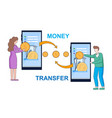 online banking in mobile phone application banner vector image vector image