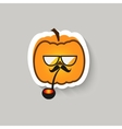 Pumpkin hipster big glasses and Smoking pipe vector image vector image