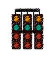 racer traffic light doodle vector image vector image