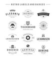 Retro Logotypes set vintage graphics vector image