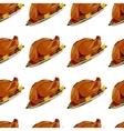 roast turkey vector image