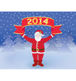 Santa with New Year banner vector image