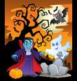 scene with halloween theme 7 vector image vector image
