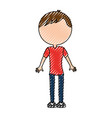 scribble body man cartoon vector image vector image
