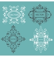 Set monogram design elements Baroque style vector image