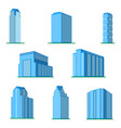 set of eight modern high-rise building vector image