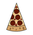 slice pepperoni pizza vector image vector image