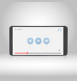 smartphone with video player on the screen vector image vector image