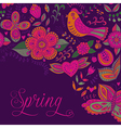 Spring coming card Floral background spring theme vector image vector image