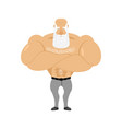 strong grandfather fitness retired athlete old vector image