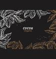 template cocoa art sketch vector image