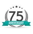 template logo 75 years anniversary