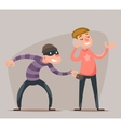 Thief Steals a Purse from Hapless Guy Character vector image