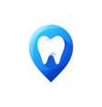 tooth logo design vector image vector image