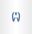 tooth logo symbol icon vector image vector image