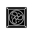 ventilation icon black sign vector image