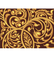 Vine pattern on a brown background vector image vector image