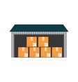 warehouse delivery storage vector image vector image