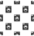 Washer black icon for web and mobile vector image vector image