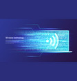 wireless technology and data transfer concept vector image vector image