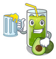 with juice avocado smoothies are isolated on vector image vector image
