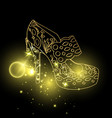 woman sandals or lady shoes golden espadrille vector image