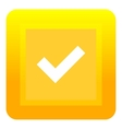 Yellow square button icon flat style vector image vector image