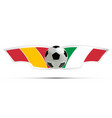 realistic soccer ball or football on itali and vector image