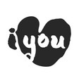 i love you lettering with heart vector image