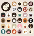 coffee icons colored vector image