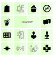 14 shadow icons vector image vector image