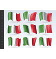 3d waving flag italy isolated on white vector image vector image