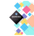 abstract colorful squares geometric pattern vector image