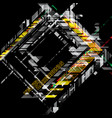 abstract colors geometric shapes on a black scene vector image vector image