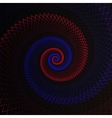abstract flame spiral on black background vector image vector image