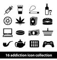 addiction icon vector image vector image