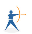 archery from collection the sports vector image vector image