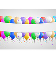 balloons and white clean banner vector image vector image