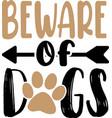 beware dog flat style pet vector image vector image