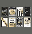 big set of social media sale website and mobile vector image