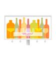 billboard for wine festival outline wine bottles vector image vector image