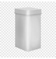 blank box mockup realistic style vector image vector image